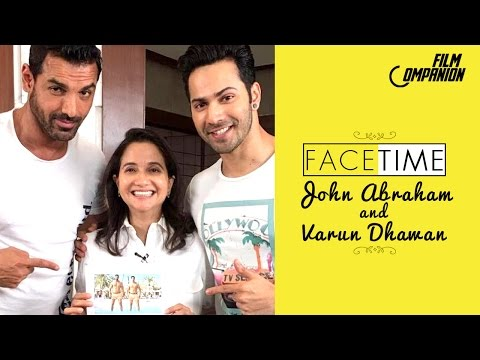 John Abraham and Varun Dhawan | Dishoom | FaceTime | Anupama Chopra