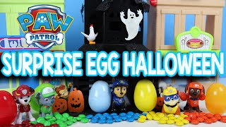 Paw Patrol Halloween Surprise Egg with M&Ms