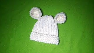 How to Loom Knit a Baby Hat with Ears (DIY Tutorial)