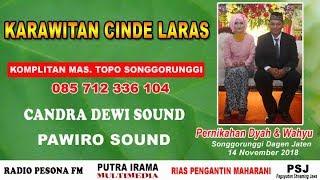 LIVE STREAM//KARAWITAN CINDE LARAS//Candra Dewi Sound & Pawiro Sound//Radio Pesona FM