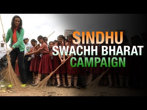 Badminton Player Sindhu joins Swachh Bharat, nominates Tennis Player Leander Paes
