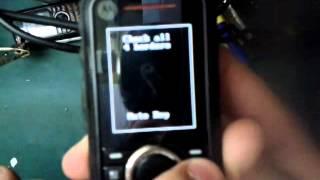 Motorola i296 - Como entrar em modo de teste