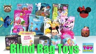 Disney Shopkins Splashlings Tsum Tsum Num Noms Blind Bag Opening Toy Review   PSToyReviews