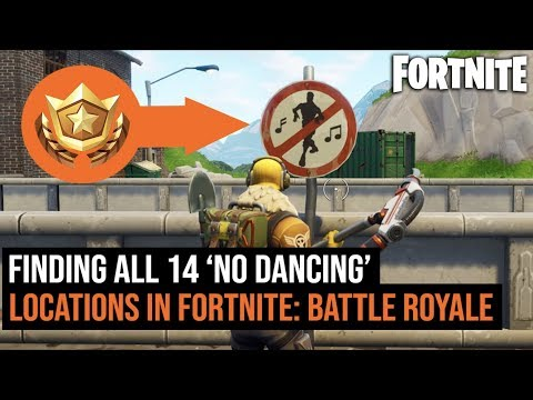 All 14 ' FORBIDDEN NO DANCING' Locations In Fortnite: Battle Royale | Forbidden locations challenge