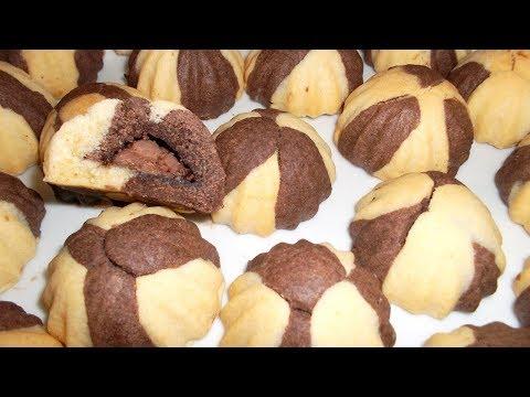 حلويات العيد 2018 حلوة راقية محشية بالشوكولا سهلة و اقتصادية و مذاقها تحففة / حلويات الماس