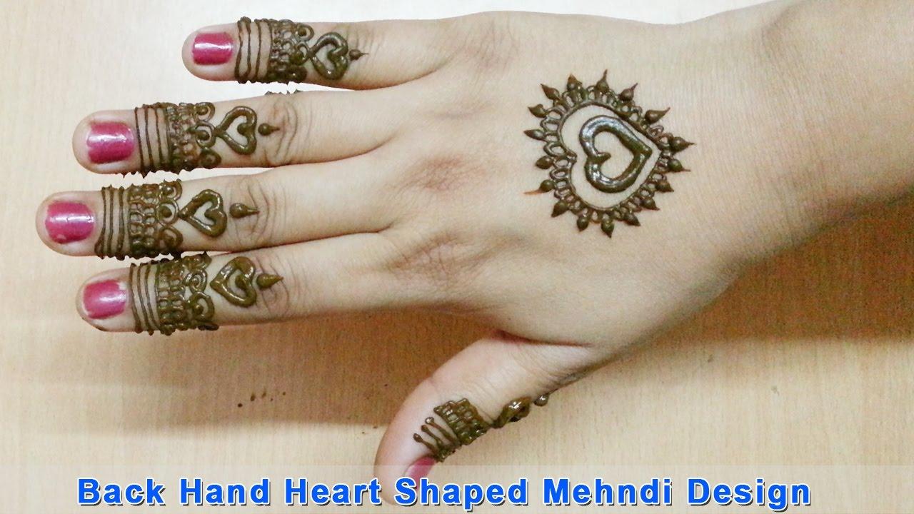 Simple Arabic Henna Mehndi Designs for Hands by Jyoti