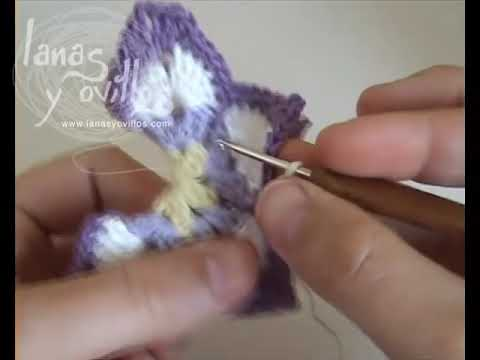 Tutorial Mariposa Crochet Butterfly (English subtitles)