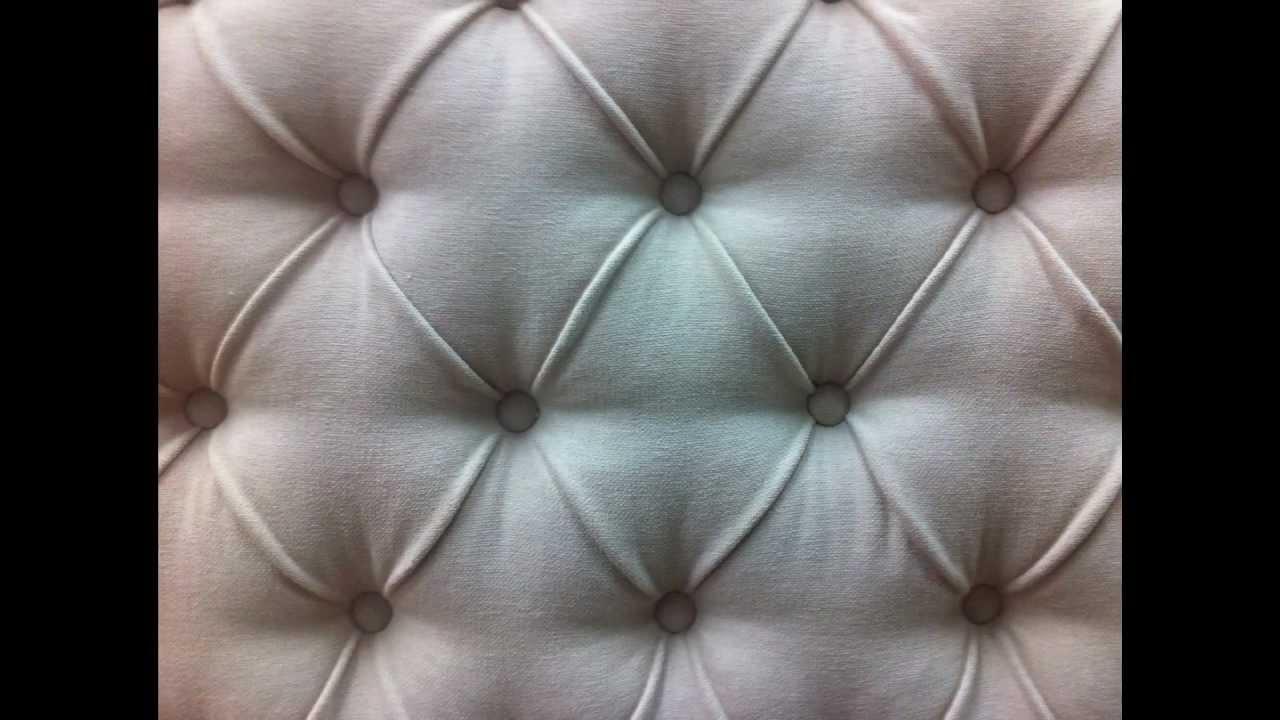Como hacer por pasos un cabecero con capiton by - Como forrar muebles con tela ...