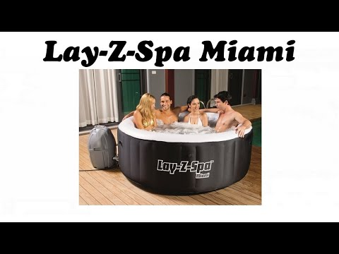 lay z spa miami portable hot tub inflatable jacuzzi style. Black Bedroom Furniture Sets. Home Design Ideas