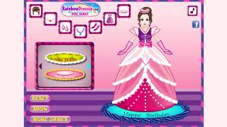 How to play Princess Cake game | Free online games | MantiGames.com