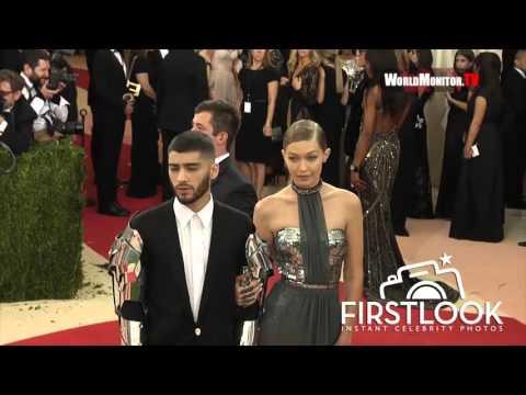 Gigi Hadid and Zayn Malik at Manus X Machina -  The 2016 Met Gala