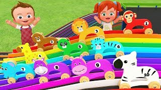 Wooden Animals Slider Toy Set 3D | Learn Animals Names for Children Little Baby Boy & Girl Play Kids