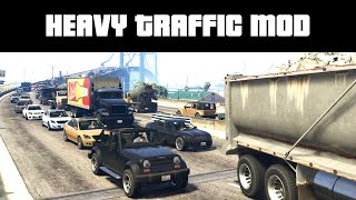 HEAVY TRAFFIC MOD & EPIC POLICE CHASE   GTA 5 PC Mods