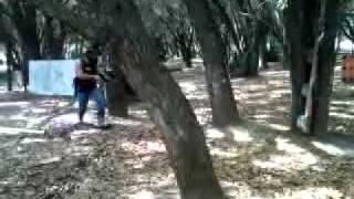 Paintballing in woodland mission tx