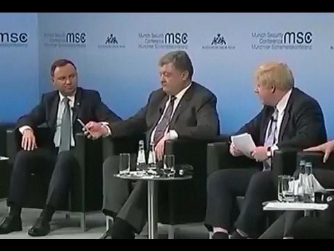 Порошенко шокировал европейцев и немцев.Мюнхенские встречи
