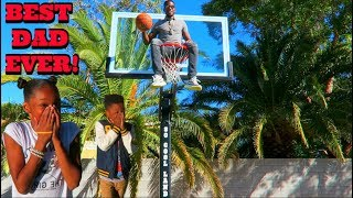 SURPRISED MY KIDS WITH A NBA BASKETBALL COURT