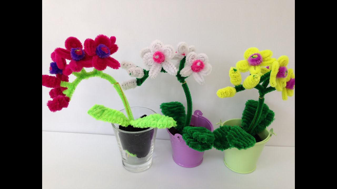 How To Make A Pipe Cleaner Orchid Youtube
