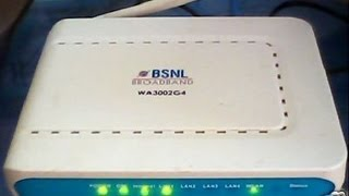 How to Configure WiFi of BSNL UTstarcom Modem - Model WA3002G4