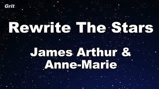 Rewrite The Stars Anne Marie James Arthur Karaoke No Guide Melody Instrumental