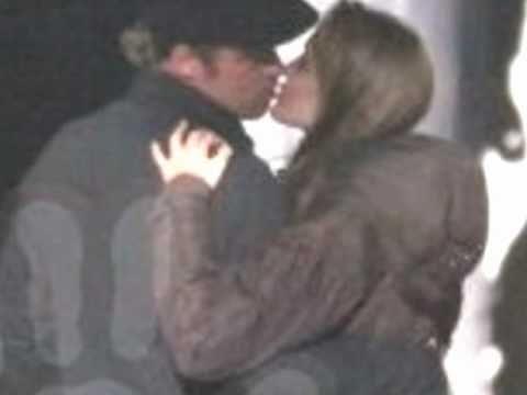 Angelina Jolie and Brad Pitt Passionate kiss on-set!