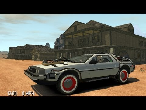Grand Theft Auto IV - Back To The Future Delorean Time Machine (MOD) HD