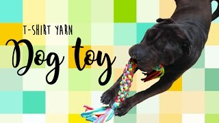 How to make a dog toy - T-shirt yarn Dog Toy DIY
