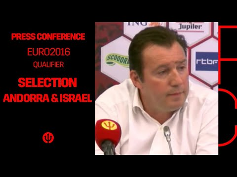 Press conference Marc Wilmots: selection Belgian Red Devils Andorra & Israel