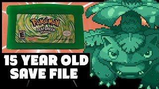 Exploring my 15 YEAR OLD Pokemon LeafGreen Save File! - PokeTips