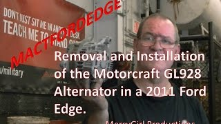 Ford Edge alternator removal and installation 2007 thru 2014
