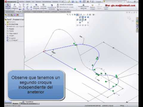 Tutorial de solidworks (Modelo avanzado) 6.Croquis derivado copiar