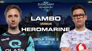 Lambo vs HeRoMaRinE ZvT - Group Stage #3 - WCS Fall 2019
