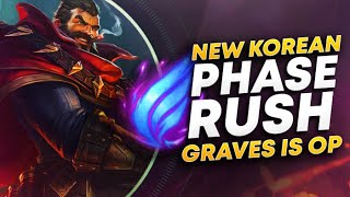 RANK 1 PLAYS KOREAN PHASE RUSH GRAVES!| League of Legends