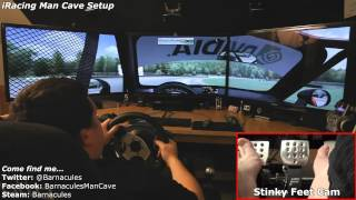 Playing iRacing on Realistic Racing Simulator - Obutto R3volution, Clubsport V2, Sparco