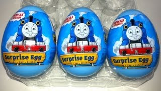 3 Thomas & Friends Surprise Eggs Unboxing