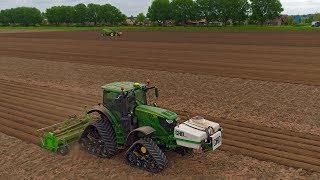 The John Deere Team | JD 6215R on tracks & 6430 | Potato Planting 2018