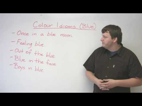 Idioms in English – 'Blue'