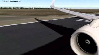 X-Plane (HD) Qantas 737-800 Takeoff Christchurch [NZCH]