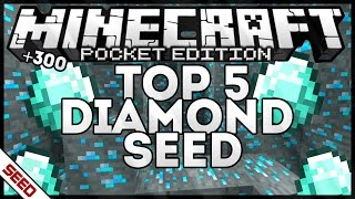 [0.14.0/0.15.0] TOP 5 DIAMOND SEED +300 ORES! MINECRAFT POCKET EDITION