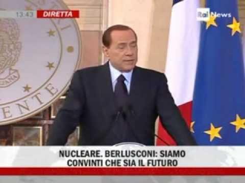 Nucleare - 29° vertice italo-francese (Roma, 26-04-2011) - Conferenza stampa Berlusconi Sarkozy