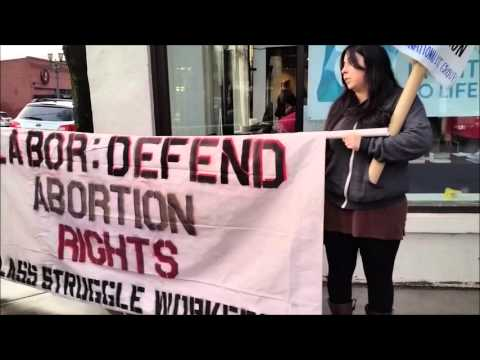 Portland Labor Defend Abortion Rights Rally