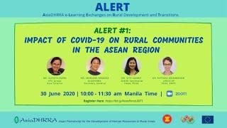 """ALERT#1:""""Impact of COVID-19 on Rural Communities in the Asean Region"""""""