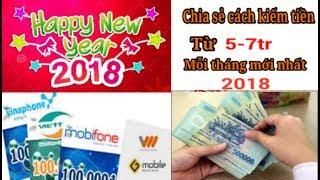 Chia sẻ cách kiếm tiền từ 7 - 9tr/tháng bằng điện thoại mới nhất 2018
