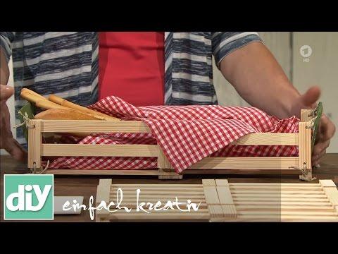 Faltbares Brotkörbchen   DIY einfach kreativ