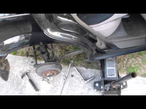 Quick Mazda Protege rear strut removal video