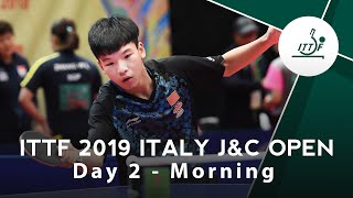 2019 ITTF Italy Junior Cadet Open Day 2 Morning
