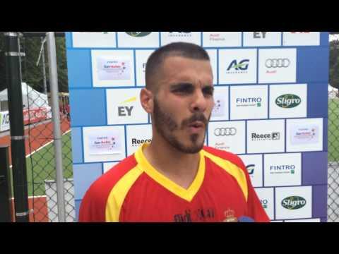 Fintro EuroHockey Junior Championships 2014 Day 1- Post match interview Netherlands - Spain (m)