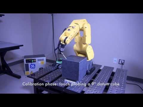 Calibration of an industrial robot using a touch probe
