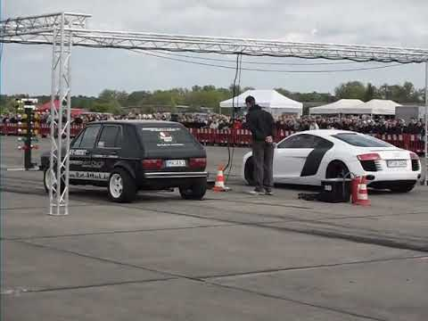 VW Golf 1 vs. Audi R8