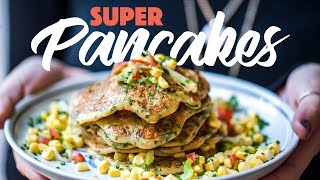 Herby Sweet Potato Pancakes Recipe With Corn Salsa. #spon