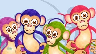 Five Little Monkeys Jumping On The Bed   Monkey Song   Nursery Rhymes For Babies   Baby Song
